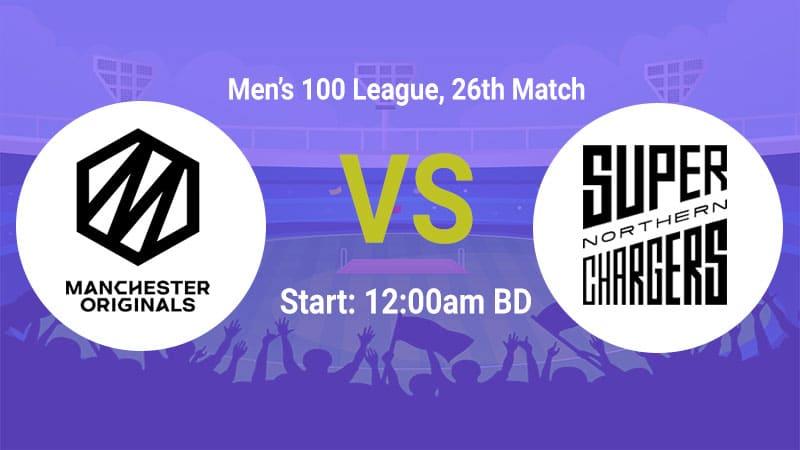 Northern Superchargers (Men) vs Manchester Originals (Men)